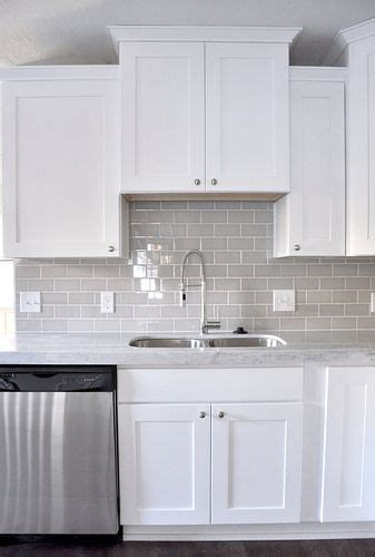 White Shaker Kitchen Cabinets Lowes by Smoke Glass Subway Tile Grey Subway Tiles The White And