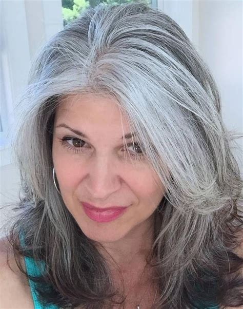 salt and pepper hair highlights for older women 663 best images about hair on pinterest bobs my hair
