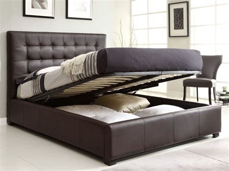 Bed Set Price Athens Bedroom Set W Storage Bed Brown