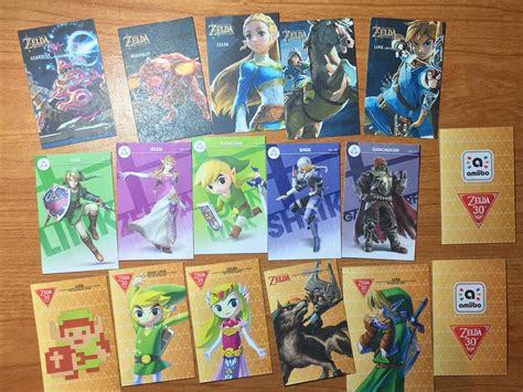 printable zelda amiibo cards printed out my own amiibo cards breath of the wild