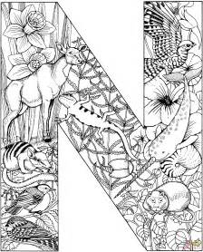 pages for free coloring pages for letter n az coloring pages