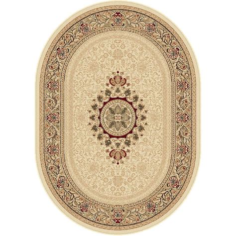 7 X 9 Oval Area Rugs by Tayse Rugs Sensation Ivory 6 Ft 7 In X 9 Ft 6 In