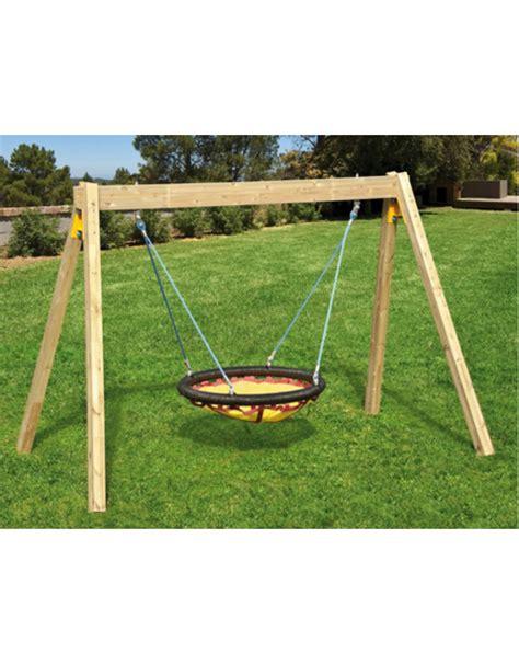 altalena da giardino altalena legno con cesto cm cm 730x220x240h altalene per