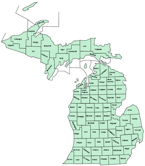 michigan counties map related keywords suggestions for michigan counties