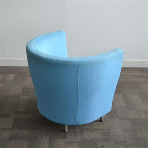 orangebox light blue reception tub chair