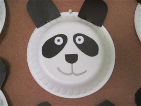 Panda Paper Plate Craft - panda craft idea for preschoolers preschool crafts and