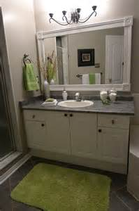 bathroom mirror frame ideas bathroom vanity with custom mirror frame contemporary