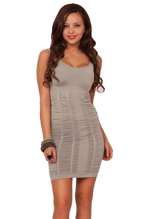 scoop neck fitted seamless bodycon stretchy sleeveless casual ruched mini dress