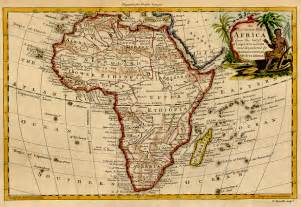 Old Map Of Africa by Ancient Ethiopia