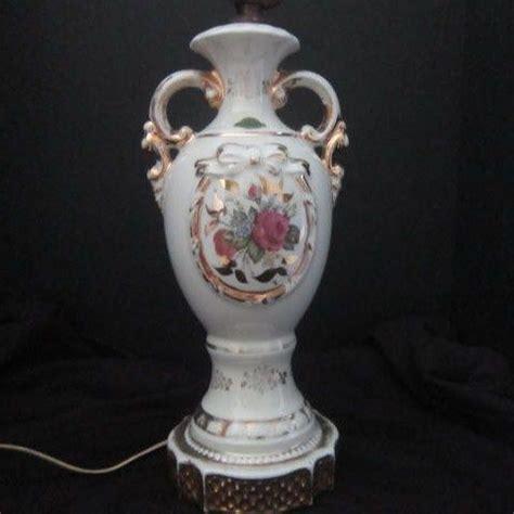 Vintage Ceramic L by Vintage Painted Ceramic L Base From