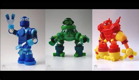 cosas que se pueden hacer con botellas bottlerobot los robots de tapones reciclados ecoembes