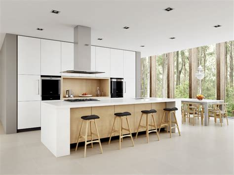 Danish Design Kitchen by White Minimalist Scandinavian Kitchen Sydney By