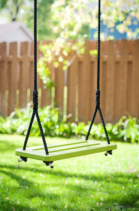 plastic tree swing rope tree swing made of recycled plastic loll designs