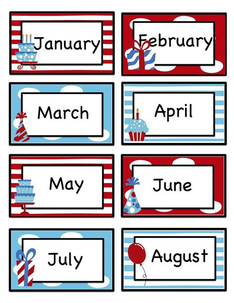 printable calendar cards months of the year flashcards to print search results