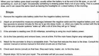 2001 chevy impala dead battery electrical problem 2001