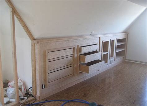 Dresser Built Into Wall by Inspiration Built In Attic Storage Small Space Or Buy An Ikea Dresser Shove It Into The