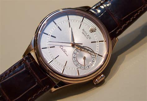 Rolex Cellini Detik Bawah Brown Silver the global db