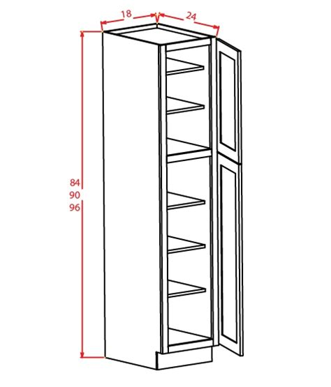 u189624 wall pantry cabinet 18 inch by 96 inch by 24 inch
