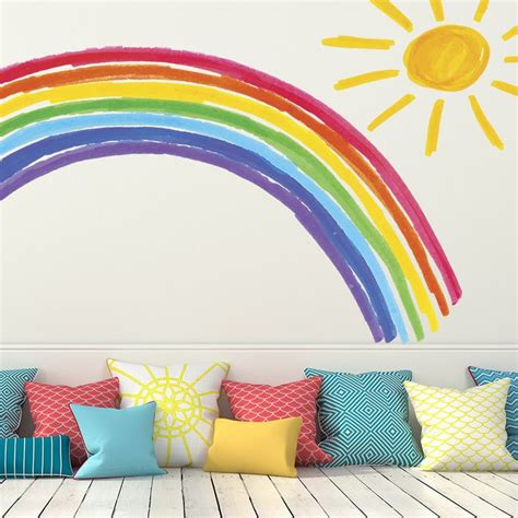 rainbow wall stickers 25 best ideas about rainbow wall decal on rainbow wall rainbow room and