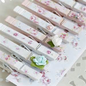 Home Decorating Craft Projects Decoupage Clothes Pegs With Pretty Floral Paper