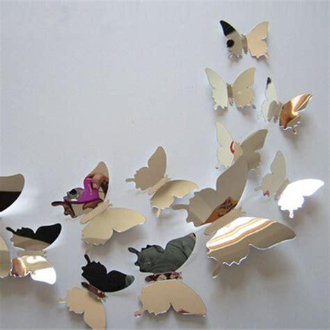 H023 3d Wall Sticker Butterfly Pvc Stiker Dinding Kupu Kupu Motif Te 3d Pvc Butterfly Wall Stickers Home Decor Butterfly Wall
