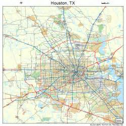pin map of houston area on