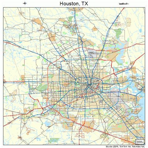 houston texas road map pin map of houston area on