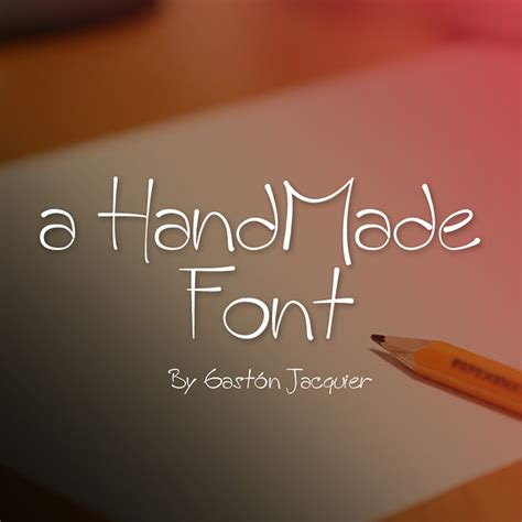 Handmade Fonts - 20 beautiful cursive handwritten fonts to