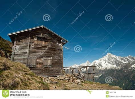 refuge house mountain refuge house in french alps royalty free stock photos image 19711958