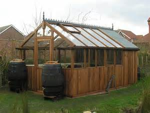 backyard shed and greenhouse garden ideas
