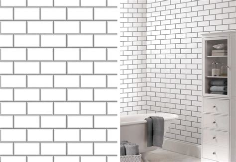 fine decor white ceramica subway tile wallpaper ceramica new york subway tile brick wallpaper by fine