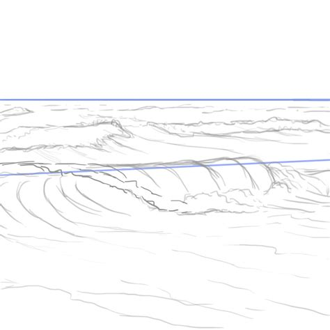 Drawing Waves by How To Paint Water Waves And The In Adobe