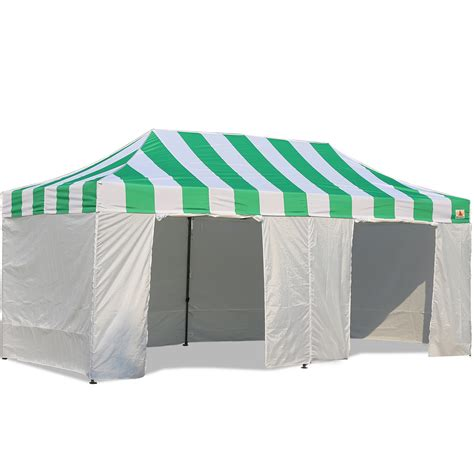 canopy tent with awning abccanopy carnival canopy 10x20 green with white walls ez