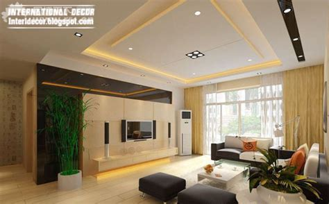 10 Unique False Ceiling Modern Designs Interior Living Room Living Room Ceiling Designs