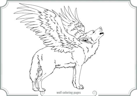 winged wolf coloring page winged wolf coloring pages coloring home