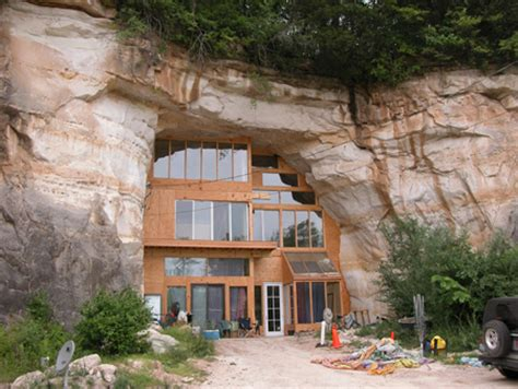 House Built Into Mountain by Solid Planet Caveland A Home Built In A Cave