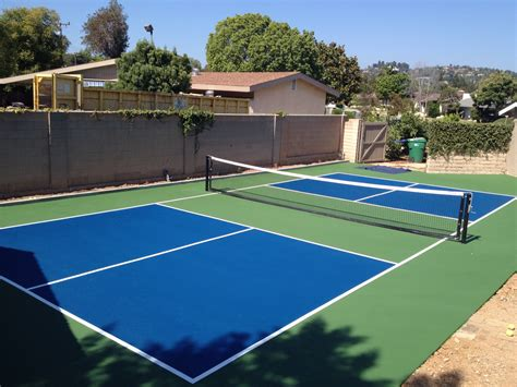 Backyard Tennis Court Dimensions Pickleball Court Paint Diy Do It Yourself Coatings