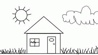 house coloring page free printable house coloring pages for