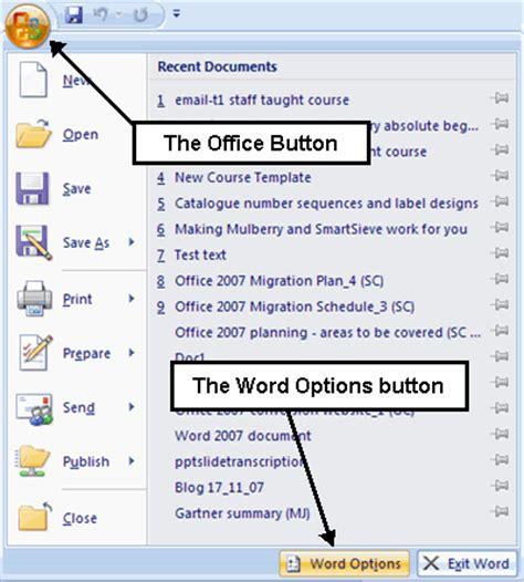 office menu office button menu
