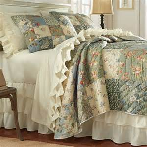 Patchwork Quilt Bedding - country bedding serenity patchwork quilt and shams orvis