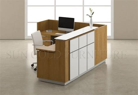 Modern L Shaped Counter Wooden Office Furniture Price Office Front Desk Furniture