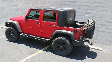 jeep soft top security recruit jku 4 door half hardtop kit gr8tops