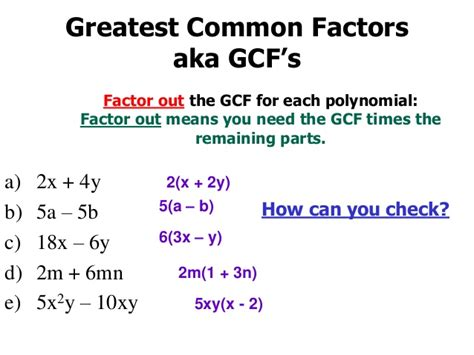 Factor The Common Factor Out Of Each Expression Worksheet by Factoring Gcf And Grouping