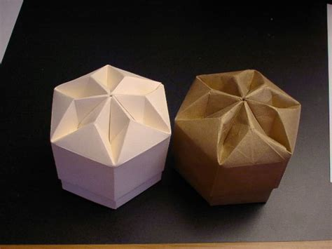 Box Flower Origami - origami box hexagon origami