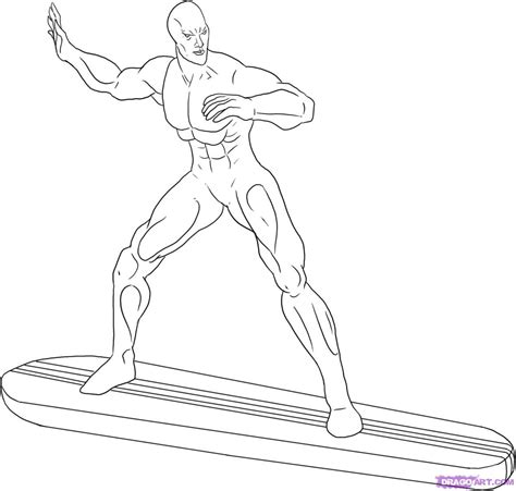 coloring pages silver surfer