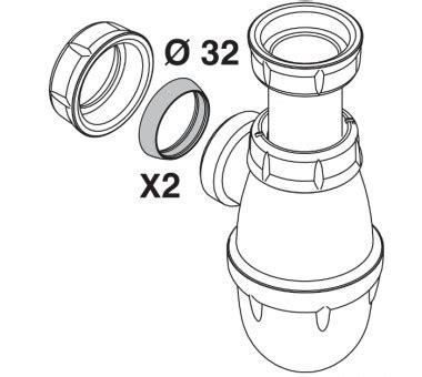 Joint Siphon Evier by Joints Coniques Pour Siphon De Lavabo 216 32 Girpi