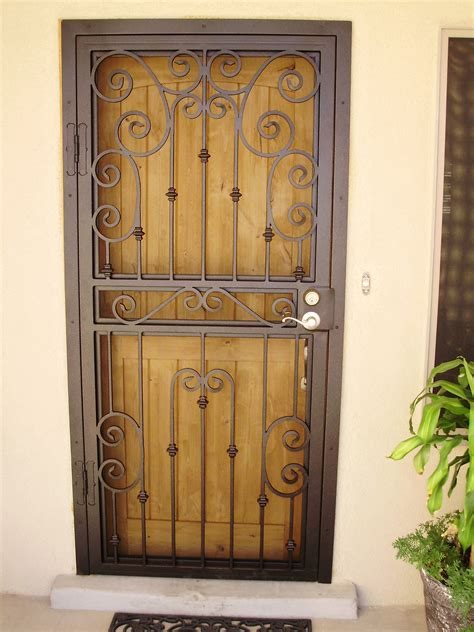 secure door torres welding inc security screen doors