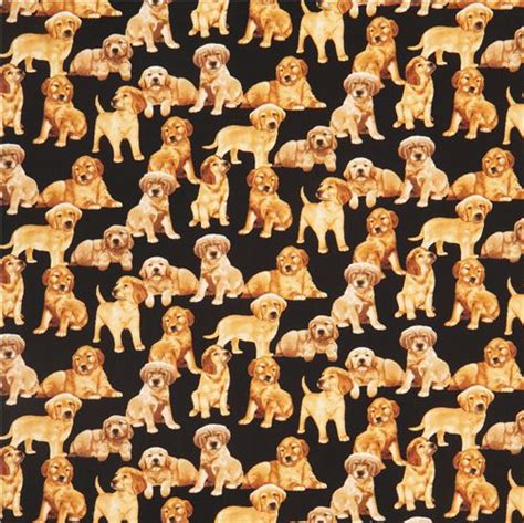 golden retriever fabric black golden retriever puppy fabric by timeless treasures animal fabric fabric