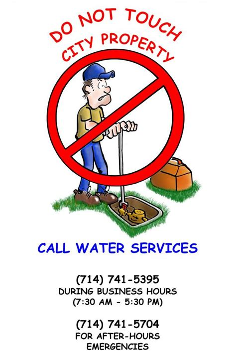 Garden Grove Municipal Code Reminder Water Customers And Or Plumbers Are Not To