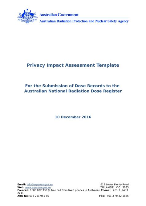 20 Assessment Exles Doc Privacy Impact Assessment Template